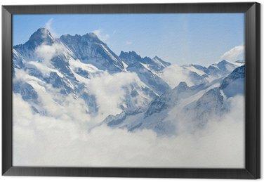 Tableau en Cadre Paysage de montagne dans les Alpes