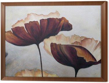 Tableau en Cadre Peinture abstraite Poppy