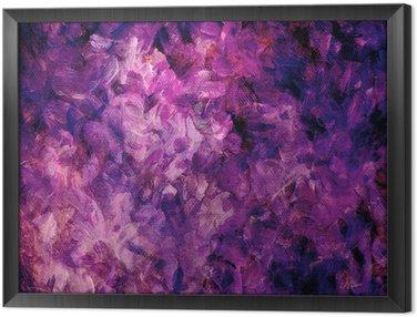 Tableau en Cadre Pink- und violettfarbener, hintergrund gemalter auf leinwand