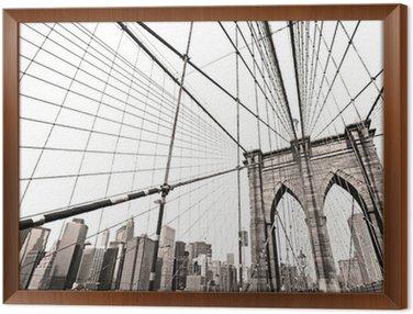 Tableau en Cadre Pont de Manhattan, New York City, USA
