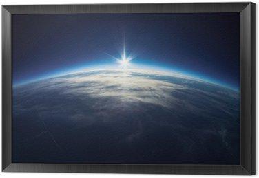 Tableau en Cadre Près de la photographie spatiale - 20 km au dessus du sol / real photo
