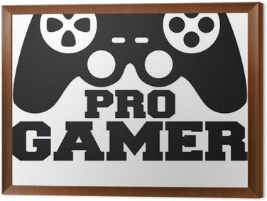 Tableau en Cadre Pro Gamer Logo