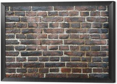 Tableau en Cadre Rugueux mur âgé de briques flammées