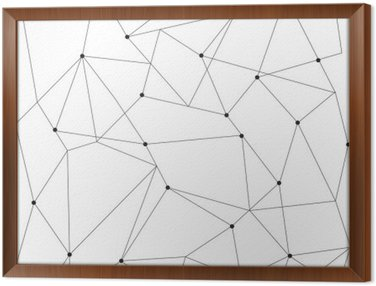Tableau en Cadre Scandinavian seamless moderne géométrique