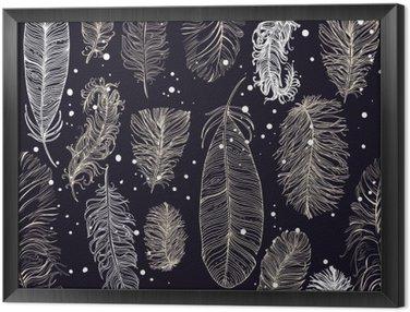 Tableau en Cadre Seamless avec de belles plumes