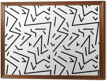 Tableau en Cadre Seamless vintage pattern géométrique dans le style rétro des années 80, memphis. Idéal pour la conception du tissu, du papier d'impression et le site Web toile de fond. fichier vectoriel EPS10