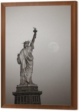 Tableau en Cadre Statue de la liberté et de la lune