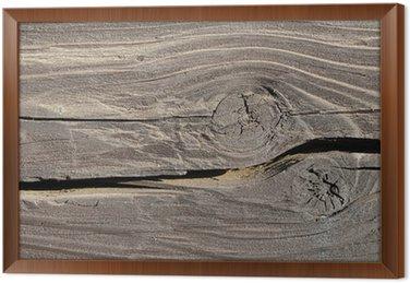Tableau en Cadre Structure de poutre en bois avec noeud