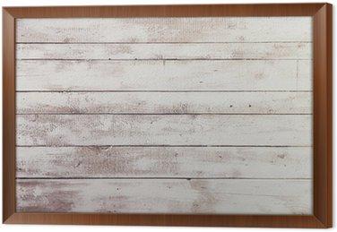Tableau en Cadre Tableaux blancs en bois avec une texture en toile de fond