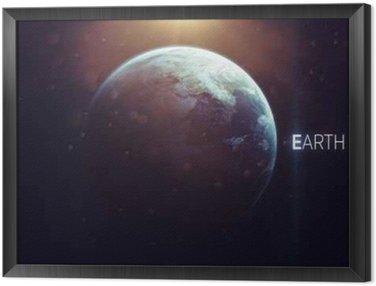 Tableau en Cadre Terre - Haute résolution bel art présente planète du système solaire. Cette éléments d'image fournis par la NASA
