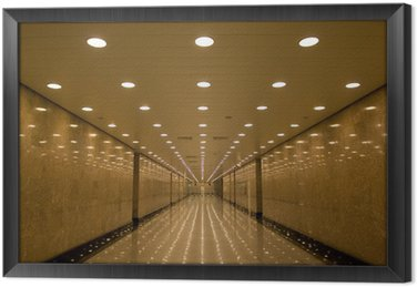 Tableau en Cadre Tunnel de lumières