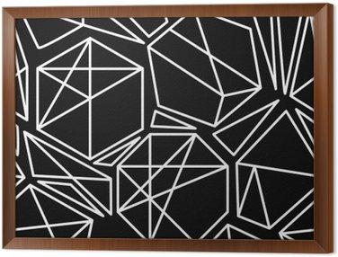 Tableau en Cadre Vecteur noir et blanc géométrique seamless