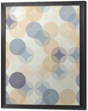 Tableau en Cadre Vector modernes colorés cercles de motif géométrique sans soudure, la couleur de fond géométrique abstrait, papier peint impression, rétro texture, design de mode hipster, __
