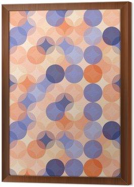 Tableau en Cadre Vector modernes colorés cercles de motif géométrique sans soudure, la couleur orange bleu fond géométrique abstrait, papier peint impression, rétro texture, design de mode hipster, __