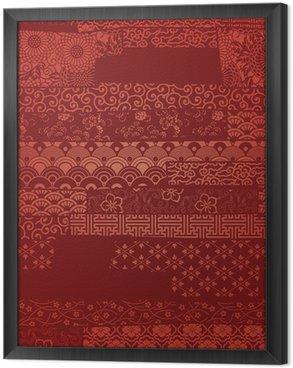 Tableau en Cadre Vector wallpaper Oriental