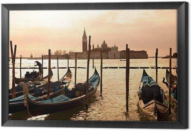 Tableau en Cadre Venise, Vue de San Giorgio a augmenté de San Marco