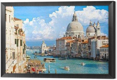 Tableau en Cadre Venise, vue du Grand Canal et de la basilique de Santa Maria della sa