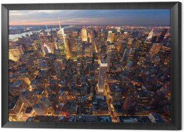 Tableau en Cadre Vue de Manhattan à vol d'oiseau
