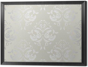 Tableau en Cadre Wallpaper.damask sans soudure de fond pattern.floral
