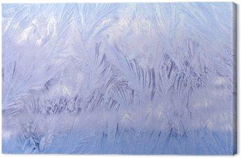 Tableau sur Toile Декоративный морозный узор на стекле