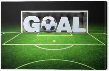 Tableau sur Toile 3d but avec un ballon de soccer dans le stade