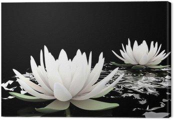 Tableau sur Toile 3d lotus sur l'eau