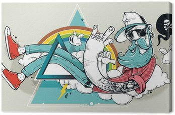 Tableau sur Toile Abstract graffiti hippie