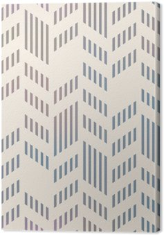 Tableau sur Toile Abstract Seamless géométrique vecteur Chevron. Mesh backgro