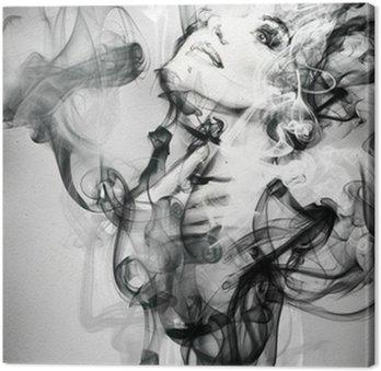 Tableau sur Toile Abstrait portrait de femme. illustration d'aquarelle