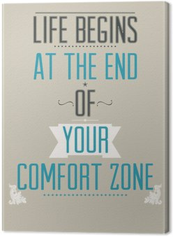 Tableau sur Toile Affiche avec le slogan de motivation