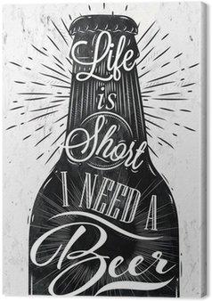 Tableau sur Toile Affiche de bière de cru