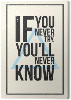 Tableau sur Toile Affiche de motivation de Inspiration. Style grunge