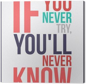 Tableau sur Toile Affiche de motivation de l'inspiration colorée