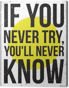 Tableau sur Toile Affiche de motivation de l'inspiration. Grunge