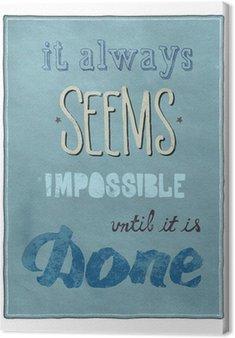 Tableau sur Toile Affiche de motivation