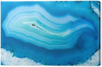 Tableau sur Toile Agate Bleue