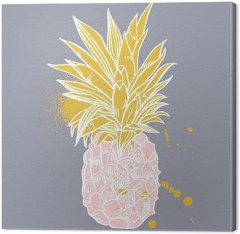 Tableau sur Toile Ananas fruits tropicaux. objet Vector.