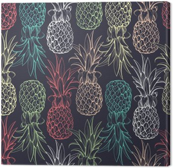Tableau sur Toile Ananas seamless pattern