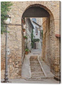 Tableau sur Toile Ancienne allée à Bevagna, Italie