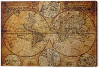 Tableau sur Toile Ancienne carte (1746)