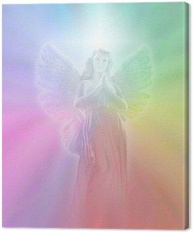 Tableau sur Toile Ange de Lumière Divine, léger flou