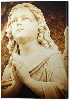 Tableau sur Toile Ange de prière dans les tons sépia