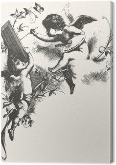 Tableau sur Toile Angels - tons gris