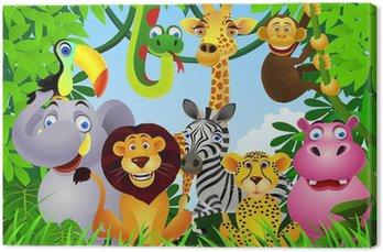 Tableau sur Toile Animal cartoon