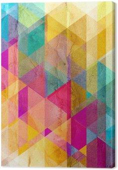 Tableau sur Toile Aquarelle fond géométrique avec des triangles