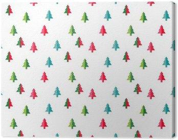 Tableau sur Toile Arbre de Noël Seamless pour la nouvelle année carte de voeux / fond d'écran. Vector Illustration. symbole de sapin.