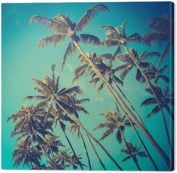 Tableau sur Toile Arbres rétro Diagonal Palm In Hawaii