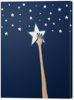 Tableau sur Toile Atteindre les étoiles ou le succès