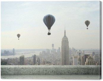 Tableau sur Toile Ballon à air sur le ciel