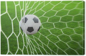 Tableau sur Toile Ballon de football dans l'objectif